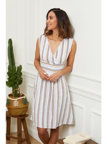 Le Monde du Lin Leinen-Kleid in Weiß