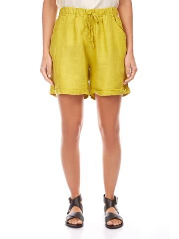 Spécial Lin Lniane szorty w kolorze żółtym