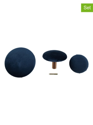 House Nordic 3-częściowy zestaw gałek meblowych w kolorze złoto-granatowym
