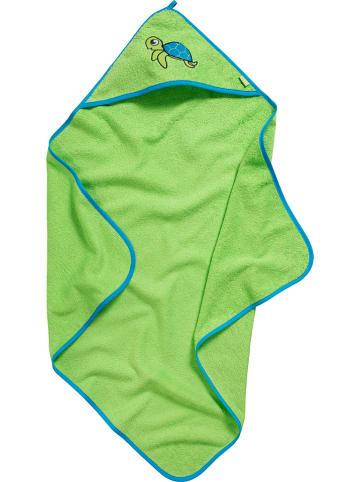 Playshoes Ręcznik w kolorze zielonym z kapturem