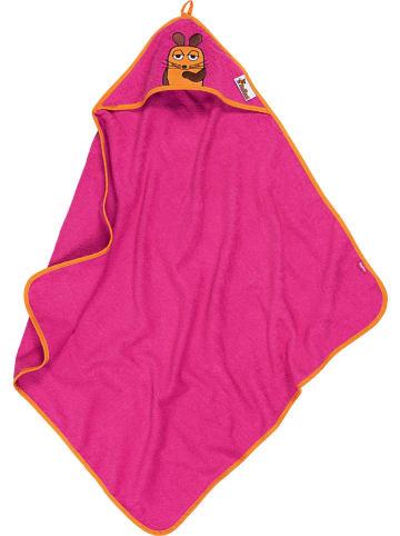 Playshoes Ręcznik w kolorze różowym z kapturem