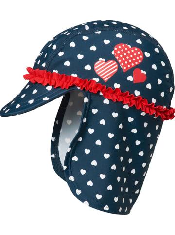 Playshoes Pet met nekbescherming donkerblauw/rood