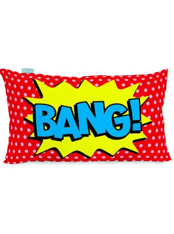 """Mr. Fox Poszewka """"Bat"""" w kolorze czerwono-błękitno-żółtym na poduszkę"""