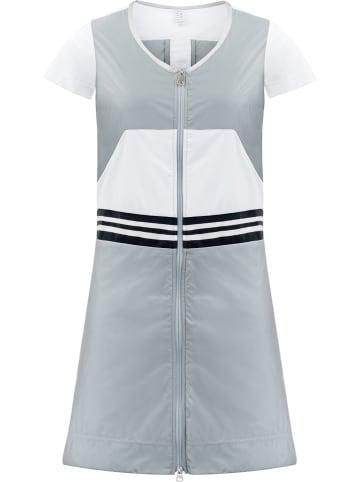 Poivre Blanc Funktionskleid in Grau/ Weiß