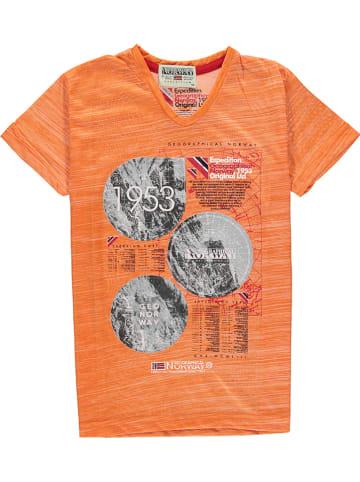 """Geographical Norway Koszulka """"Jembleme"""" w kolorze pomarańczowym"""