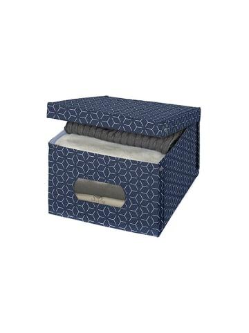 Domopak Opbergbox donkerblauw - (B)39 x (H)24 x (D)50 cm