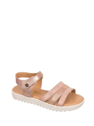 Chetto Skórzane sandały w kolorze jasnoróżowym