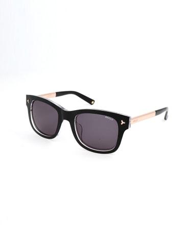 Bally Damskie okulary przeciwsłoneczne w kolorze czarno-szaro-złotym