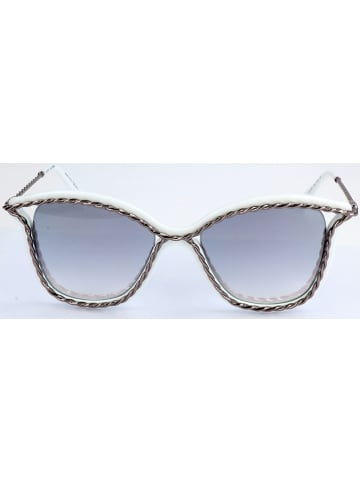 Marc Jacobs Dameszonnebril zilverkleurig-wit/lichtblauw