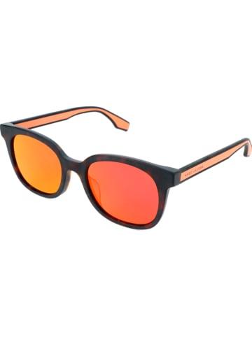 Marc Jacobs Męskie okulary przeciwsłoneczne w kolorze ciemnobrązowo-pomarańczowym