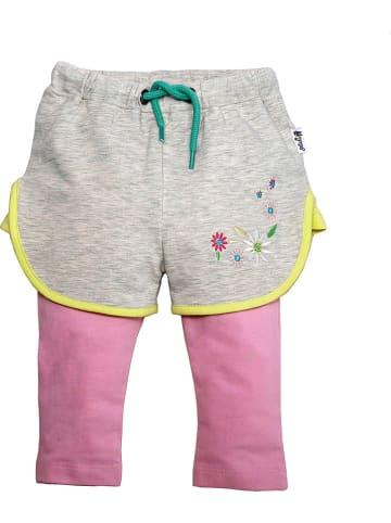 Gelati Spodnie w kolorze szaro-jasnoróżowym
