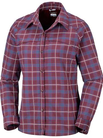 "Columbia Functionele blouse ""Silver Ridge"" donkerrood/donkerblauw"
