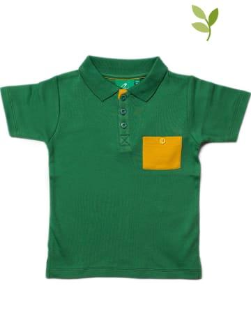 Little Green Radicals Koszulka polo w kolorze zielonym