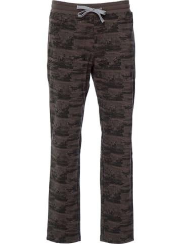Marc O´Polo Bodywear Pyjama-Hose in Dunkelbraun/ Schwarz