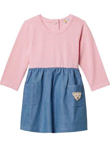 Steiff Kleid in Blau/ Rosa