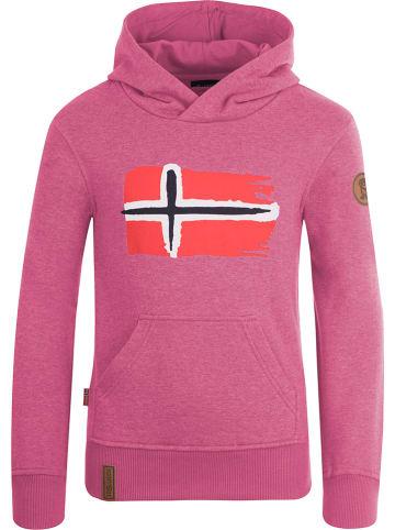"""Trollkids Sweatshirt """"Trondheim"""" lichtroze"""