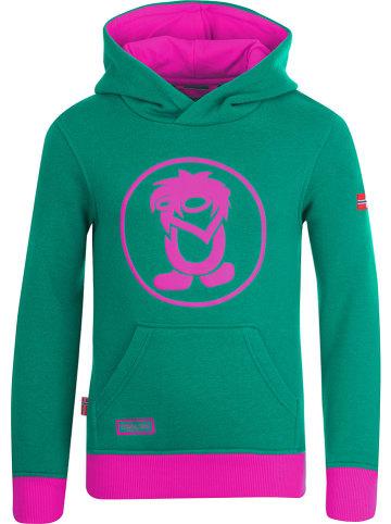 """Trollkids Sweatshirt """"Troll"""" groen/roze"""