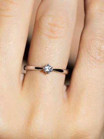 """DIAMANTA Witgouden ring """"Solitaire envoûtant"""" met diamant"""