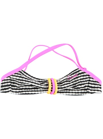 """Protest Bikini-Oberteil """"Emmy Jr"""" in Schwarz/ Weiß/ Pink"""