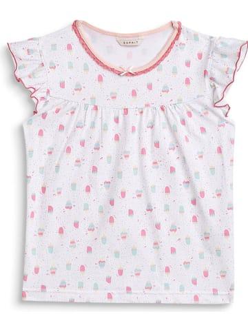 """ESPRIT Koszulka piżamowa """"Dea"""" w kolorze biało-różowym"""