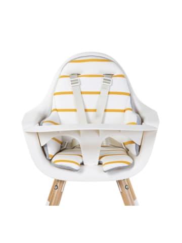 Childhome Ochraniacz w kolorze biało-żółtym do krzesełka - (S)60 x (W)55 x (G)2 cm