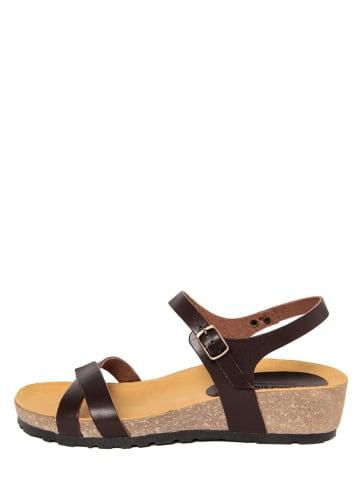 PIEMME SHOES Leder-Sandaletten in Braun
