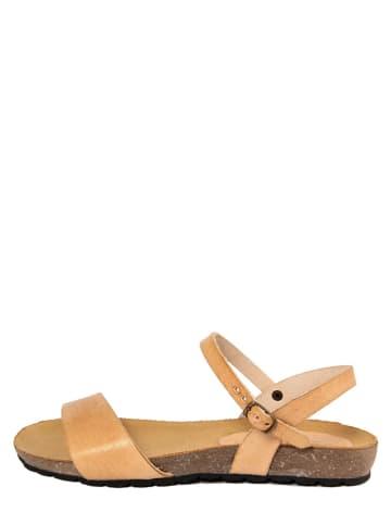 PIEMME SHOES Leder-Sandalen in Beige