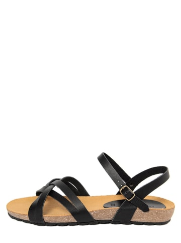 PIEMME SHOES Leder-Sandalen in Schwarz
