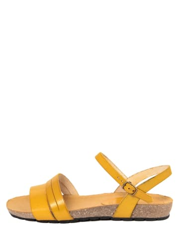 PIEMME SHOES Leder-Sandalen in Gelb