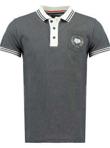 Stone Goose Koszulka polo w kolorze szarym