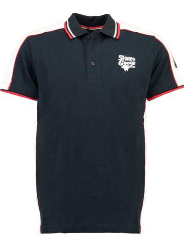 """Stone Goose Koszulka polo """"Kostac"""" w kolorze granatowym"""
