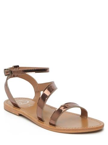 "Whitesun Leren sandalen ""Xigala"" roségoudkleurig"