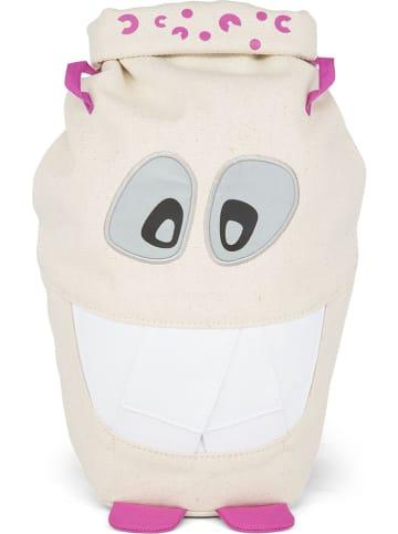 """Affenzahn Plecak """"Monster Friend"""" w kolorze fioletowo-kremowym - 30 x 24 x 7 cm"""