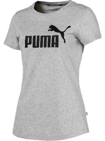 """Puma Koszulka """"ESS Logo"""" w kolorze szarym"""