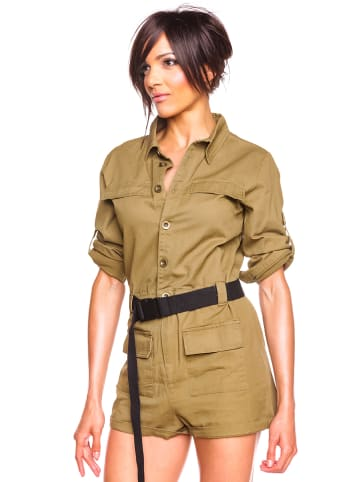 "Glamour Paris Jumpsuit ""Rala"" in Khaki"