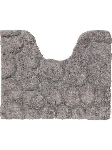 "Sealskin Toiletmat ""Pebbles"" grijs - (L)60 x (B)50 cm"