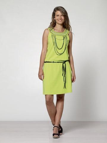 KÉAWA Sukienka w kolorze limonkowym