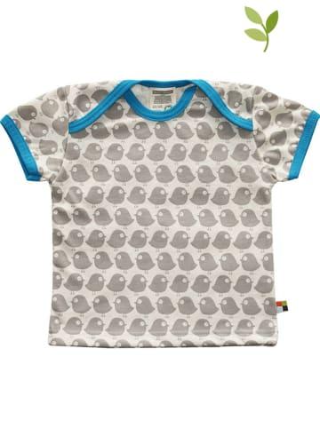 Loud + proud Shirt in Grau/ Türkis