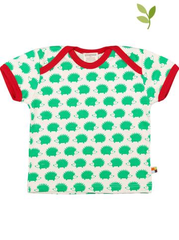 Loud + proud Koszulka w kolorze zielono-kremowym