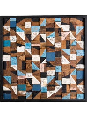 """Macabane Dekoracja ścienna """"Suzy"""" w kolorze brązowym - 73 x 73 x 4 cm"""