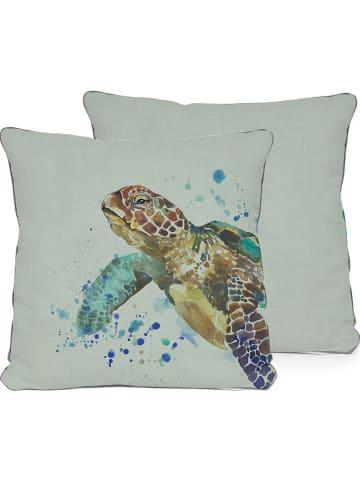 """Little nice things Poszewka """"Turtle"""" w kolorze zielonym na poduszkę - 45 x 45 cm"""