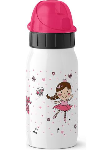 """Emsa Isolier-Trinkflasche """"Iso2Go"""" in Weiß/ Pink - 350 ml"""