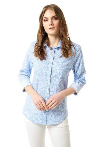 JIMMY SANDERS Koszula w kolorze niebieskim ze wzorem
