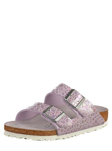 """Birkenstock Leren slippers """"Arizona"""" violet - wijdte S"""