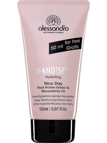 "Alessandro Handcrème ""Hydrating Nice Day"", 150 ml"