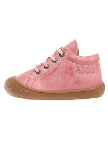 """Naturino Skórzane sneakersy """"Cocon"""" w kolorze jasnoróżowym"""