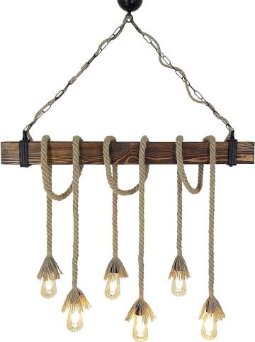"""Evila Hanglamp """"Kütük Halat"""" lichtbruin - (B)120 x (D)15 cm"""
