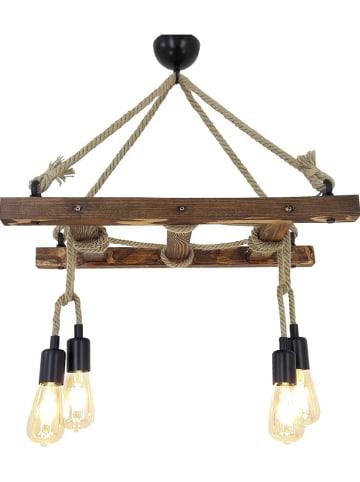 "Evila Hanglamp ""Merdiven Halat"" bruin - (B)80 x (D)34 cm"
