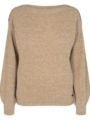 """NÜMPH Sweter """"Numerilyn"""" w kolorze jasnobrązowym"""