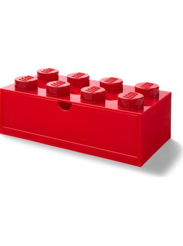 """LEGO Pojemnik """"Brick 8"""" w kolorze czerwonym z szufladami - 32 x 16 x 12 cm"""